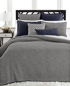 Home Must-Haves for Fall: Netflix. Hot Chocolate. A good book. All of these hibernation-time essentials are so much better when you're enjoying them snuggled up in comfy sheets —Hotel Collection linen quilted coverlet