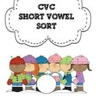 Collection of short vowel words. Students read the words and sort by their short vowel sounds. ...