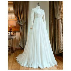 He is also a wedding photographer who entrusts Lova Moda with his wedding dress with his remote meas Worst Wedding Dress, Muslim Wedding Gown, Wedding Abaya, 1970s Wedding Dress, Muslimah Wedding Dress, Muslim Wedding Dresses, Cute Wedding Dress, Wedding Dress Sleeves, Modest Wedding Dresses