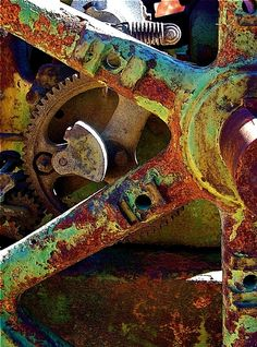 "my-world-of-colour: ""Art photograph of rust taken by John Anglim "" Contemporary Photography, Abstract Photography, Industrial Photography, Rust Never Sleeps, Rusted Metal, Peeling Paint, World Of Color, Rust Color, Natural Texture"