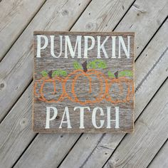 Pumpkin Patch Sign - Rustic Fall Decor - Reclaimed Wood Sign - Barn Board Sign - Farmhouse Decor - Modern Farmhouse - Country Chic Decor by KACountryDecor