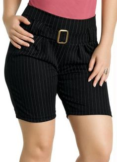 bermudas femininas sociais looks - Pesquisa Google Skirt Pants, Hot Pants, Bermudas Fashion, Sexy Dresses, Dresses For Work, Knee Length Shorts, Latest African Fashion Dresses, Pants For Women, Clothes For Women