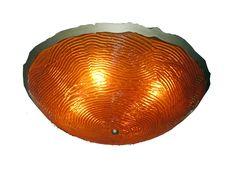 Ceiling Mount Light | Cast Acrylic Bowl | Amber | Lasercut Trim | Custom Made by iWorks
