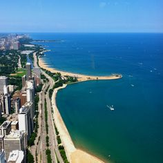 Chicago coastline --- if only it wasn't so cold.