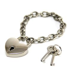 Heart Lock Bracelet with Working Lock. Annie Howes. www.anniehowes.com