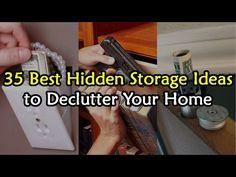 (12) 35 Best Hidden Storage Ideas to De-Clutter Your House - YouTube