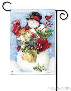 BreezeArt Garden Flag Bearing Gifts Christmas snowman NEW