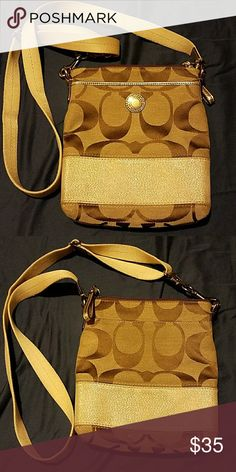 Authentic Coach crossbody bag Brown coach crossbody bag, great condition. Smoke and pet free. Coach Bags Crossbody Bags