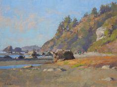 Jim McVicker, Moonstone Beach 12x16