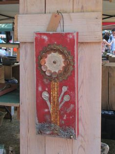 junk art flower by Christina Anderson