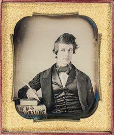 """bowlersandhighcollars:  """"Cornwell"""" daguerreotype. From the collection of John Kadel Boring."""