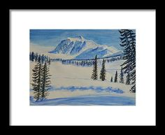 Snow Mountain Framed Print by Neha Soni