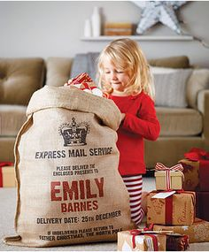 The Londoner: Christmas Gift Guide. Personalised gift sacks!