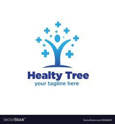 Tree medicine logo designs vector image on VectorStock Medicine Logo, Modern Logo, Monograms, Adobe Illustrator, Vector Free, Logo Design, Pdf, Icons, Logos