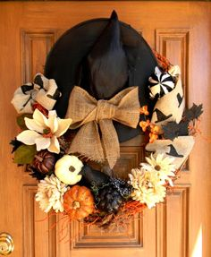 Witch Hat Wreath by theBurlapBranch on Etsy, $85.00