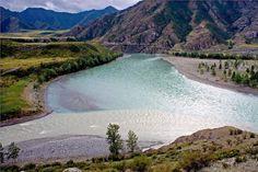 Rio Chuya e rio Katun, Rússia.