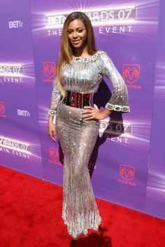 Beyonce in an elegant Dolce & Gabbana gown at the BET Awards.