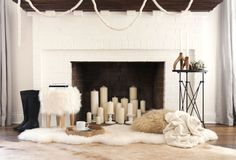 Fill Your Fireplace  - ELLEDecor.com