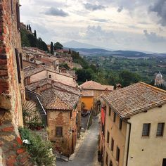 Visiting Montepulciano, a hill town in Southern Tuscany known for their local Vino Nobile red wine.