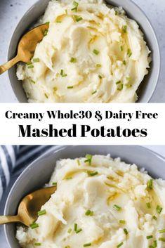 whole 30 recipes \ whole 30 recipes ; whole 30 recipes breakfast ; whole 30 recipes ; whole 30 recipes crockpot ; whole 30 recipes dinner ; whole 30 recipes easy ; whole 30 recipes instant pot ; whole 30 recipes week 1 Dairy Free Mashed Potatoes, Mashed Potato Recipes, Creamy Mashed Potatoes, Cheesy Potatoes, Baked Potatoes, Mashed Potatoes Recipe Without Heavy Cream, Whole 30 Potatoes, Quick Recipes, Paleo Recipes