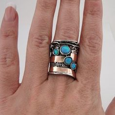 9ct gold, silver, opal