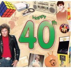 Happy 40th Birthday CD Card
