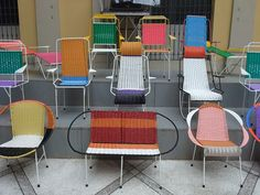 Marni project for the 2012 Salone del Mobile via Poppytalk Wrought Iron Patio Chairs, Metal Chairs, Balcony Table And Chairs, Outdoor Chairs, Dining Chairs, Outdoor Patios, Adirondack Chairs, Outdoor Rooms, Outdoor Dining