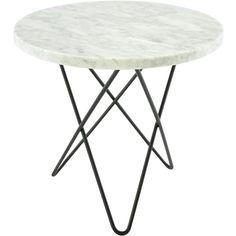 Mini O sohvapöytä, valkomarmori/musta ryhmässä Huonekalut / Pöydät @ ROOM21.fi (128750)
