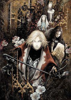 Castlevania Lament of Innocence Characters Illustration