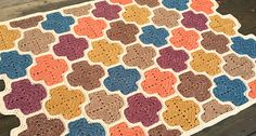 Moroccan Lattice Afghan by Julie Yeager