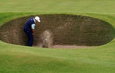 The Road Hole Bunker at St. Andrews, it brings even the best golfers in the world to their knees.,,,,,This was another hole he had fun with. In real life, however, he was an excellent golfer.