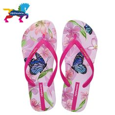 2015ca246 For Sale Hotmarzz Women s Fashion Cartoon Print Flip Flops Thong Sandals  Ladies Summer Beach House Flip-flop Home Slippers Xmas Gift