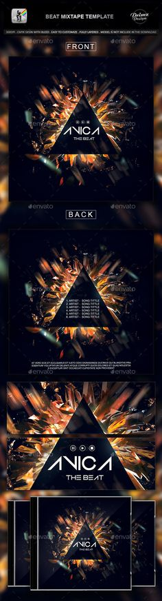 Music Artwork PSD Templates Pack (CD, CD/DVD Case, Disk Label, Flyer