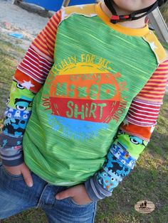 Raglanshirt kids von www.erbsenprinzessin.com genäht von Nordlandwichtel