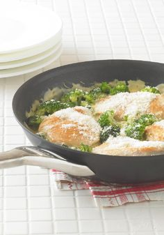Cheesy Chicken 'N Broccoli Simmer -- Your family will love this easy and delicious recipe, prepped in just 5 minutes and ready for the dinner table in less than 30!