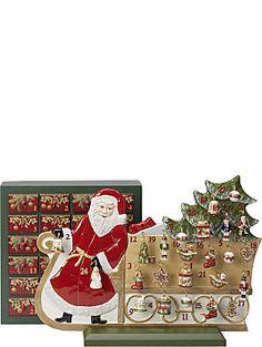 VILLEROY & BOCH Advent calendar sledge porcelain ornament