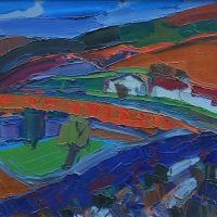 """Pierre AMBROGIANI """"Provence""""  huile sur toile,  81 X 65 cm"""