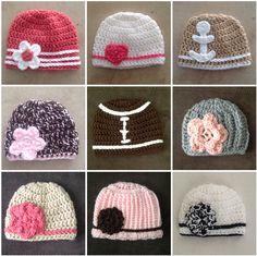 Infant Crochet Hats | Vali's Homemaking