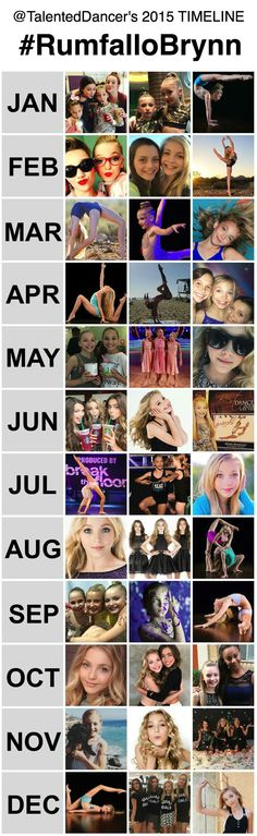 """From touring with Break the Floor to becoming a permanent member on Lifetime's television show """"Dance Moms"""", 2015 was a good year for Brynn. Looking forward to seeing what 2016 has in store for her. Follow @TalentedDancers to keep up with all of #RumfalloBrynn activities in the new year!"""