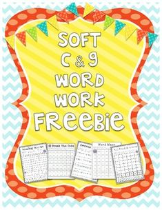 Soft g and c Bundle Freebie Includes: Soft C - Roll, Read, and Write Words (roll, read and write words with soft c) Soft G - Break the Code (rea. Dyslexia Teaching, Teaching Phonics, Teaching Reading, Teaching Ideas, Student Teaching, Teaching Resources, Learning, Word Work Activities, Phonics Activities