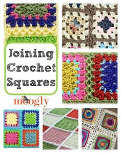 Crochet Motif How to Join Crochet Squares 14 Ways! to join crochet squares and blocks! I've linked to photo and/or video tutorials for each of 14 methods to join crochet squares! Crochet Afghans, Bag Crochet, Manta Crochet, Crochet Crafts, Crochet Yarn, Crochet Projects, Free Crochet, Crochet Tutorials, Video Tutorials