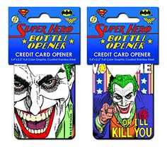 Joker Vote Me Stainless Steel Super Hero Credit Card Bottle Opener *** Check out the image by visiting the link.
