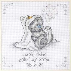 cross stitch patterns free printable   Baby Cross Stitch Patterns in Blue or Pink. Print our Free Baby Cross ...