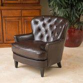 Found it at Wayfair - Waldorf Diamond Tufted Leather Club Chair