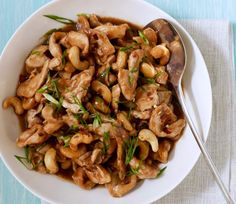 Cashew Chicken made at home on the table