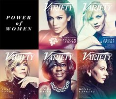 "Variety ""Power of Women"" Covers with Jennifer Lopez, Reese Witherspoon, Jane Fonda, Viola Davis, and Donna Langley"