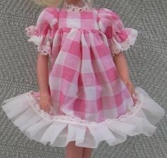 Pink check Faerie Glen dress