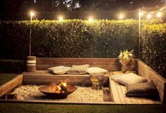 43 DIY outdoor fire pits are just what your backyard needs!- 43 DIY outdoor fire pits are just what your backyard needs! wonderful 43 DIY outdoor fire pits are just what your… - Fire Pit Seating, Fire Pit Area, Backyard Seating, Diy Fire Pit, Fire Pit Backyard, Backyard Patio, Seating Areas, Deck With Fire Pit, Pergola Patio