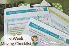6 week moving calendar and checklist - week by week what to do to prepare for the big family move
