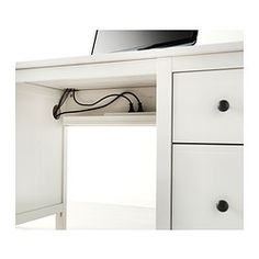 Eckschreibtisch ikea mikael  MICKE Desk with integrated storage IKEA It's easy to keep cords ...